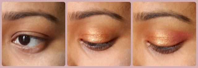 South Indian Wedding Eye Makeup Look Step 1