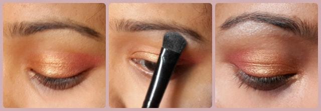 South Indian Wedding Eye Makeup Look Step 2