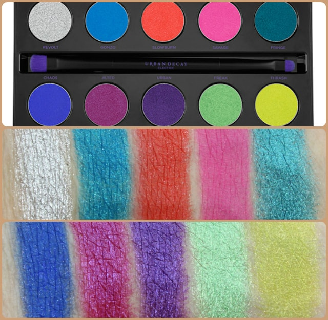 Dupe Discovered - Urban Decay Electric Eye Shadow Palette Swatch