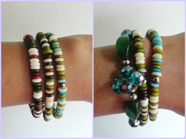 How to wear statement accessory - Layering beaded Bracelets