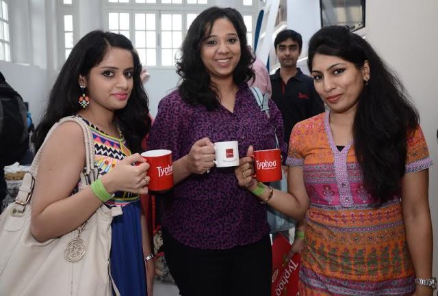 Lisha, shweta and Me at Typhoo Event