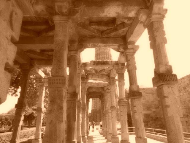 Qutab Minar On its Way