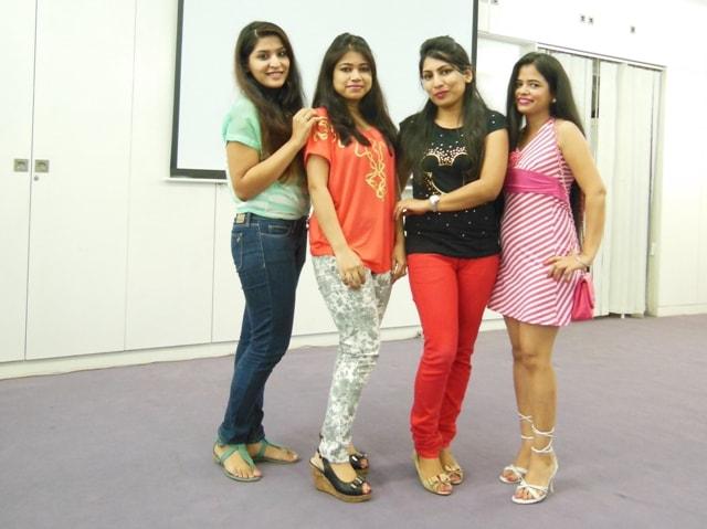 Shreya Niesha and Me at jafra pamper Party