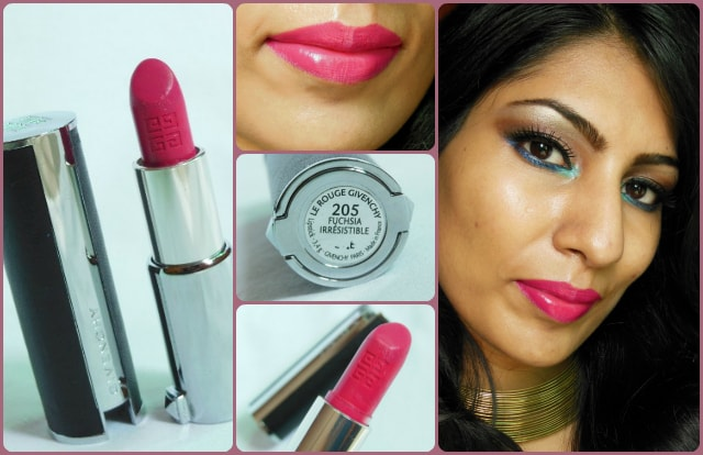 Givenchy Le Rouge Irresistible Fuchsia 205 look