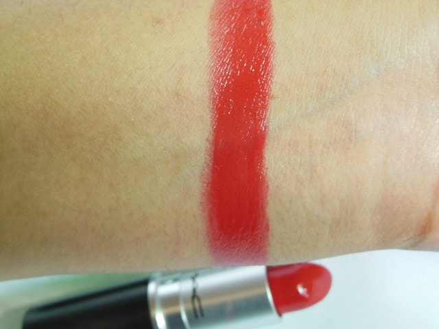 MAC Lustre Lipstick Lady Bug Swatch