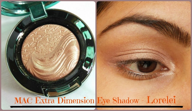 MAC Aquatic Extra Dimension Eye Shadow Lorelei Look