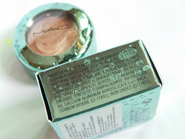 MAC Lorelei Aquatic collection Eye Shadow Ingredients