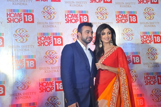 Shipa Shetty and raj Kundra at SSK Saree launch at HomeShop18