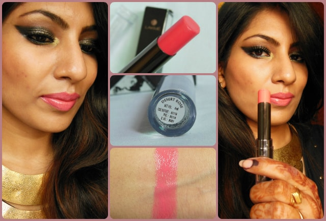 Lakme Absolute Gloss Addict Lipstick Desert Rose FOTD