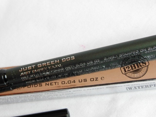Colorbar Just Smoky Kajal Just Green 003 Claims