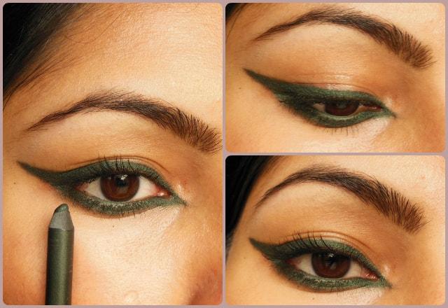 Colorbar Just Smoky Kajal Just Green EOTD