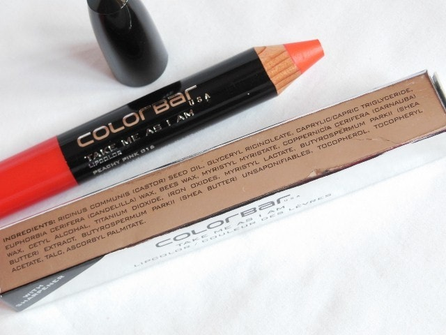 Colorbar Take Me As I Am Lip color Peachy Pink Ingredients
