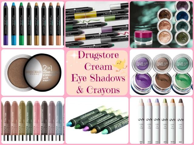 Best Drugstore Cream Eye Shadows and Eye Shadow Crayons