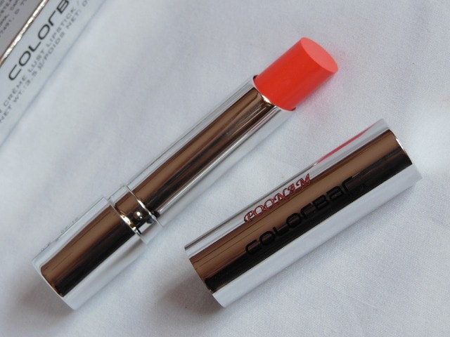 Colorbar Sheer Creme Lust Orange Bliss Lipstick Review