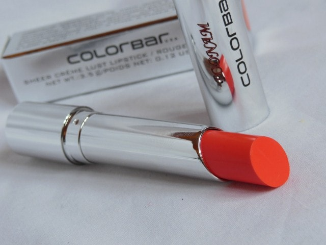 Colorbar Sheer Creme Orange Bliss Lipstick Review