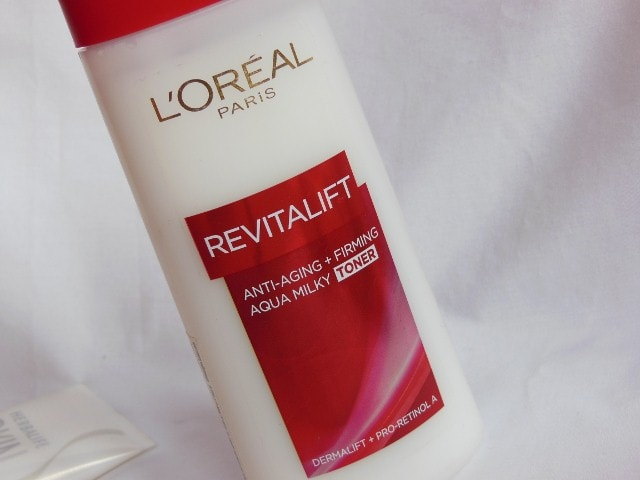L'Oreal Paris Revitalift Anti - Ageing + Firming  Aqua Milky Toner Packaging