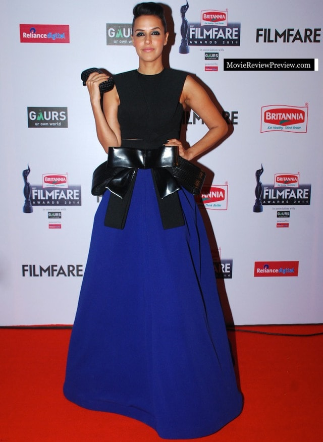 Best Dressed at Filmfare Awards 2015 -Neha Dhupia