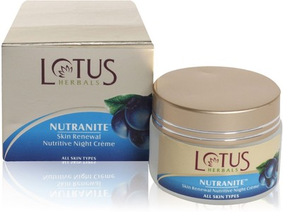 Best Night Creams for Normal - Dry Skin - Lotus Herbals Nutranite skin renewal nutritive night cream