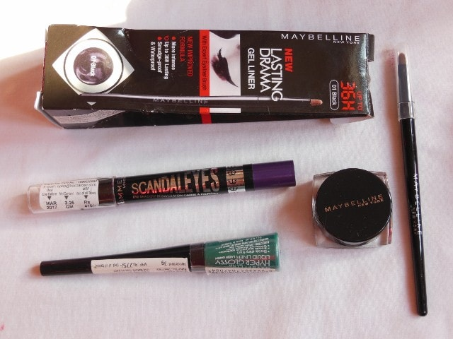 February Drugstore Haul - Eye Liners from Maybelline, Rimmel