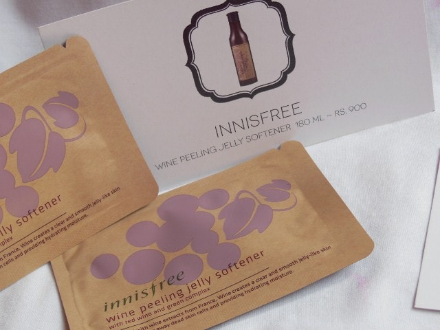 My Envy Box February 2015 - Innisfree Wine Peeling Jelly Softener