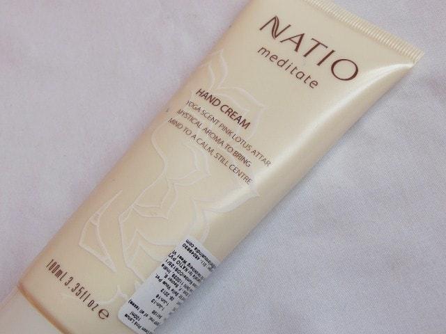Natio Meditate Pink Lotus Hand Cream