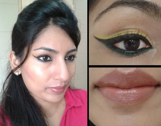 Valentine Day Makeup Look - Winged liner and Nude Lips