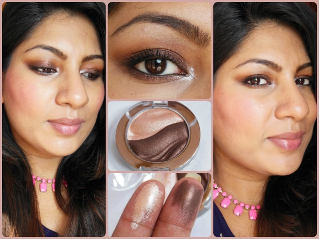 Essence 3D Eye Shadow Irresistble Choco CupCake FOTD