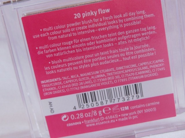 Essence Blush Up Powder Blush Pink Flow Claims