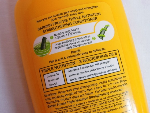 Garnier Fructis Triple Nutrition Strengthening Conditioner Claims