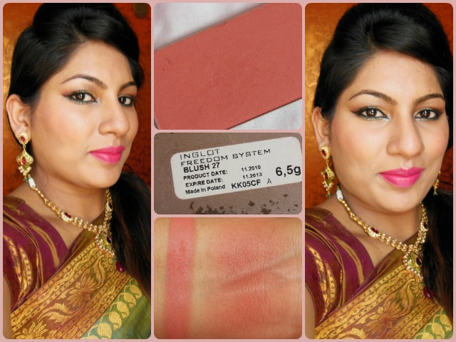 INGLOT Freedom System Powder Blush #27 FOTD