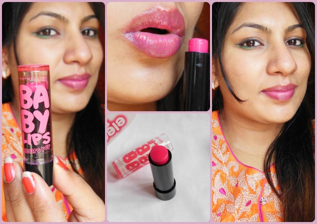 Maybelline Baby Lips Electro Pop Pink Shock Look