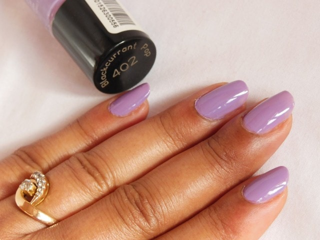Maybelline Colorshow Nail Paint - Blackcurrant Pop NOTD