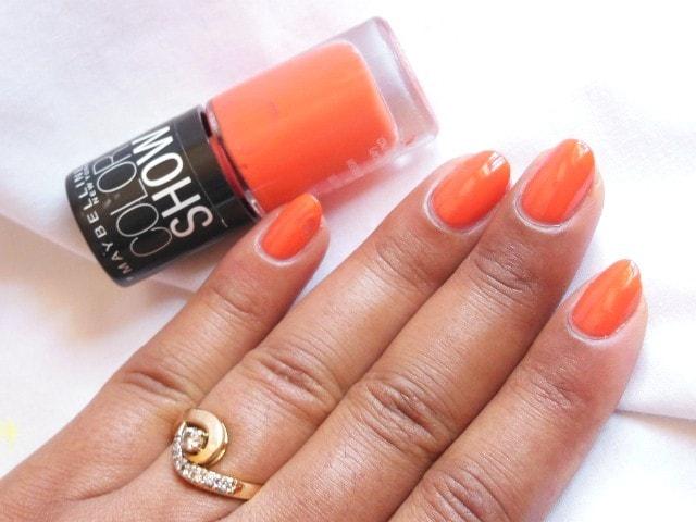 Maybelline Colorshow Orange Fix Nail Paint