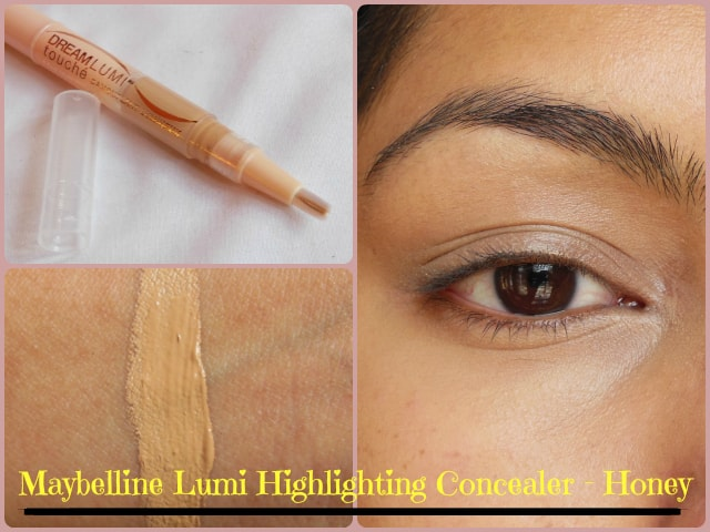 Maybelline Dream Touch Lumi Highlighting Concealer Honey Look