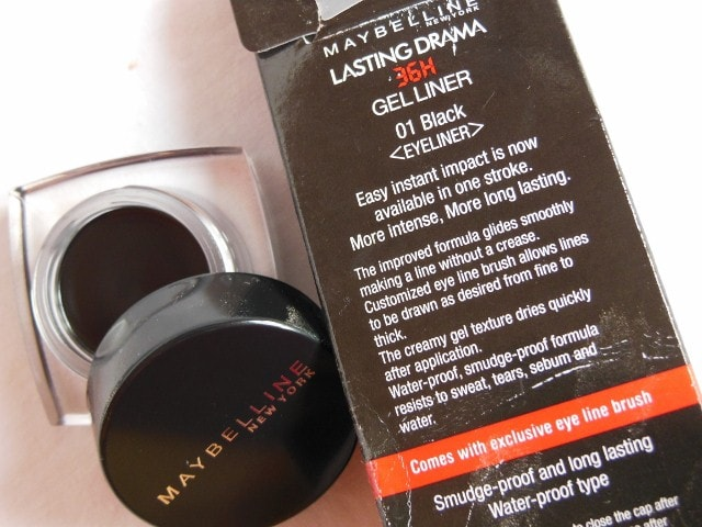 Maybelline Lasting Drama Gel  Liner Black Claims