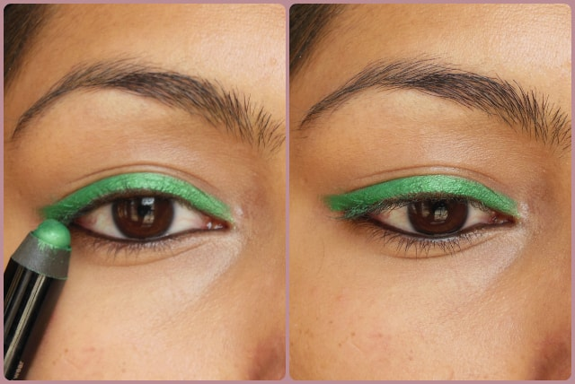 Sephora Jumbo Waterproof 12Hr wear Liner Green EOTD
