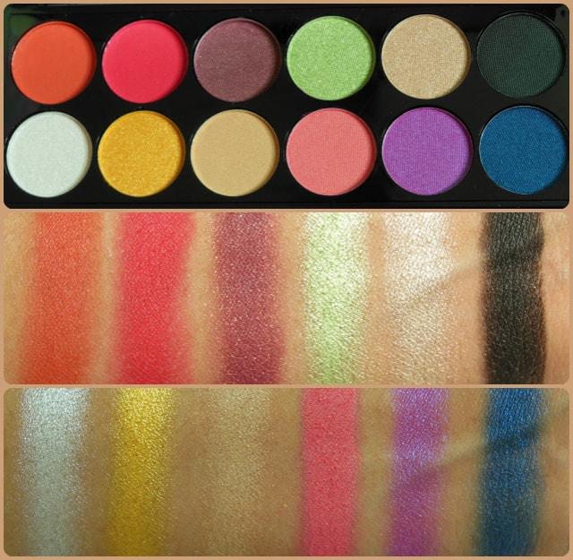 Sleek Rio Rio Eye Shadow Palette Swatches