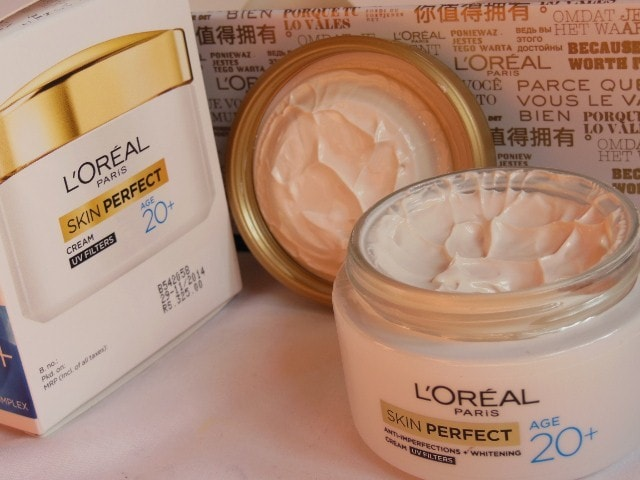 L'Oreal Skin Perfect Anti Imperfections and whitening cream Review