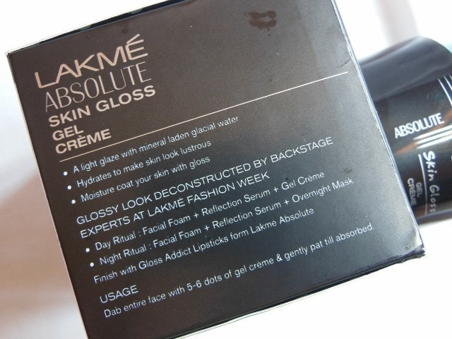 Lakme Skin Gloss Gel Creme Claims