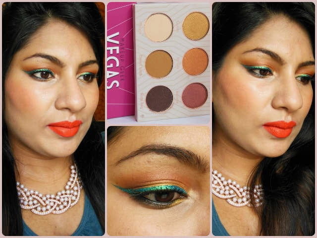 Makeup Geek Vegas Lights Eye Shadow Palette Look
