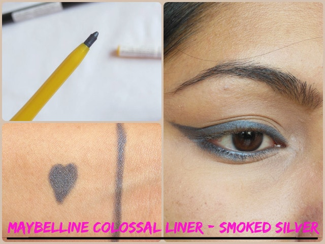 Maybelline Colossal Kohl Smoked Silver Look