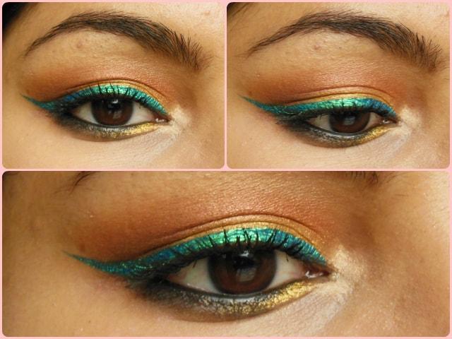 Maybelline Hyper Glossy Lazer Green Eye Liner EOTD