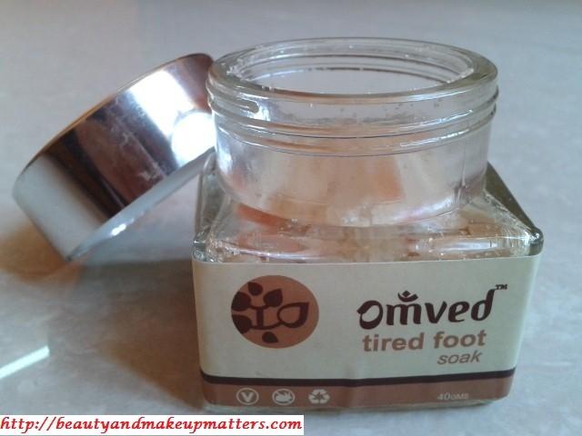 Omved Tired Foot Soak Packaging