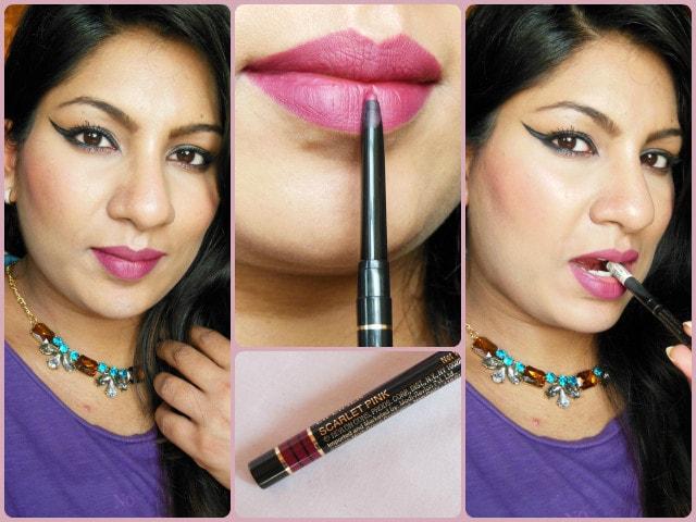 Revlon Colorstay  Lip Liner Scarlet Pink FOTD