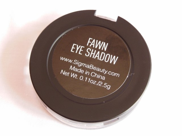 SIGMA Eye Shadow Fawn Review