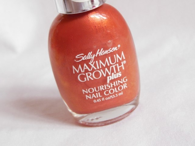 Sally Hansen Maximum  Growth Nourishing Nail Color Practical Plum Packaging