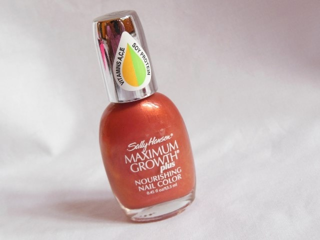 Sally Hansen Maximum  Growth Nourishing Nail Color Practical Plum Review