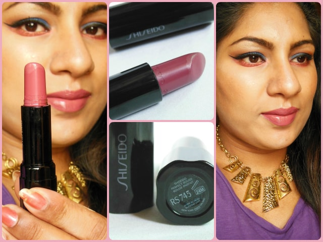 Shiseido Perfect Rouge Fantasia Lipstick  RS745 FOTD
