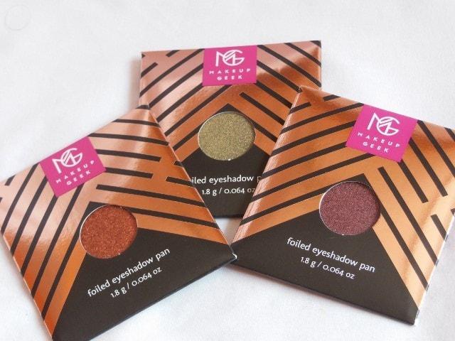 Sneak Peek- Makeup Geek Foiled Eye Shadow Collection
