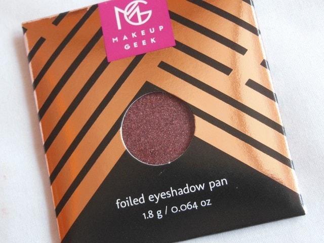 Sneak Peek- Makeup Geek Foiled Eye Shadow - Showtime
